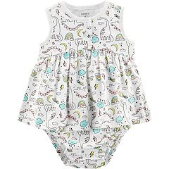 Baby Girl Carter's Dinosaur Sunsuit