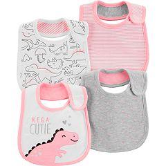 Baby Girl Carter's 4-pack Dinosaur Bibs