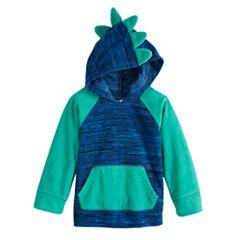 Baby Boy Jumping Beans® Fleece Dinosaur Pullover Hoodie