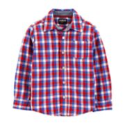Toddler Boy OshKosh B'gosh® Plaid Button Down Shirt