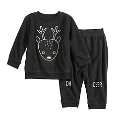 Baby Boy Jumping Beans® Graphic Fleece Sweatshirt & Pants Set