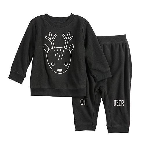 Baby Boy Jumping Beans® Graphic Fleece Sweatshirt & Pants Set
