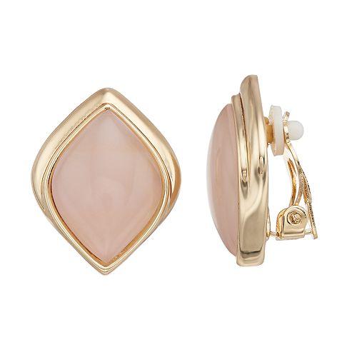 Dana Buchman Pink Marquise Clip On Earrings
