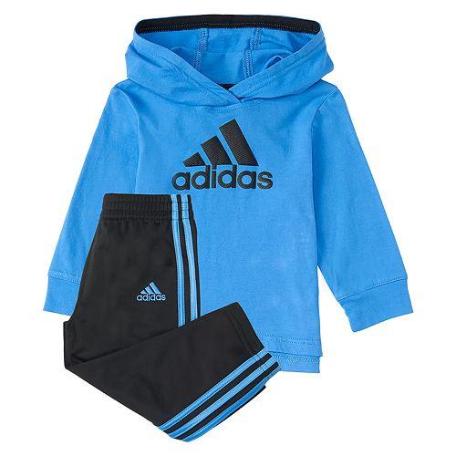 Toddler Boy adidas Logo Pullover Hoodie & Pants Set