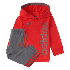 Toddler Boy adidas Logo Pullover Hoodie & Pants Set
