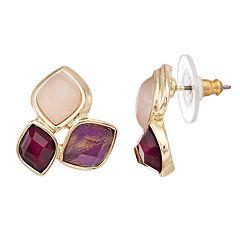 Dana Buchman Red & Pink Cluster Stud Earrings