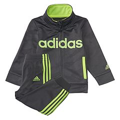 Toddler Boy adidas Mock Neck Track Jacket & Jogger Pants