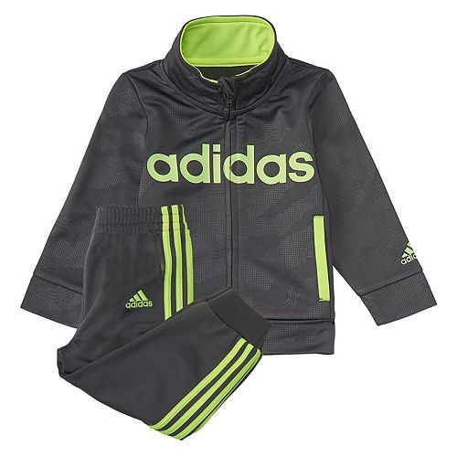 ea4ad3cdc Toddler Boy adidas Mock Neck Track Jacket   Jogger Pants