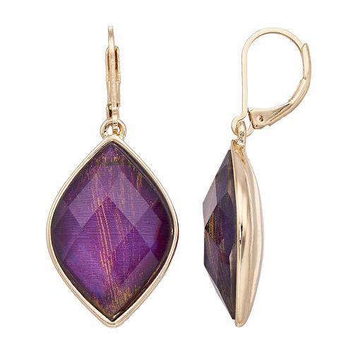 Dana Buchman Marquise Faceted Stone Drop Earrings