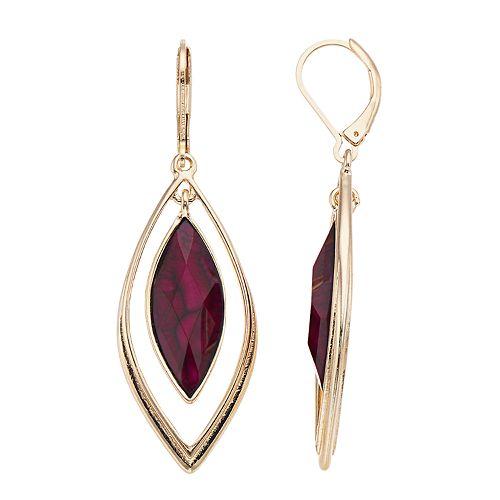 Dana Buchman Red Marquise Drop Earrings