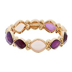 Dana Buchman Marquise Faceted Stone Stretch Bracelet