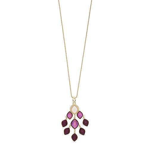 Dana Buchman Marquise Faceted Stone Cluster Pendant Necklace