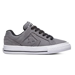kids converse shoes boys lowtop charcoal