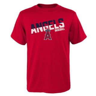 Boys 4-18 Los Angeles Angels of Anaheim Meshed Up Tee