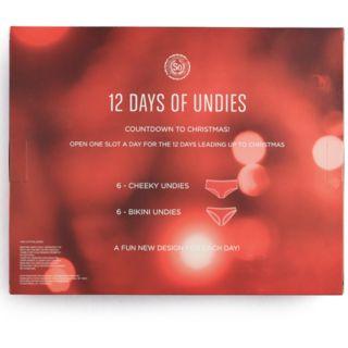 Juniors' SO® 12 Days of Undies Christmas Holiday Box