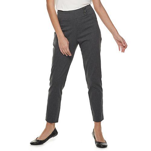 Women's Studio 253 Buttoned Millennium Ankle Pants