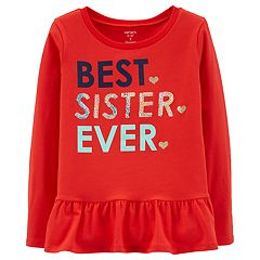 Girls 4-14 'Best Sister Ever' Sequined Graphic Tee