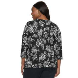 Plus Size Croft & Barrow® Scoopneck Top