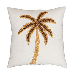 THRO by Marlo Lorenz Marley Palm Tree Beaded Throw Pillow