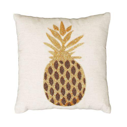 THRO by Marlo Lorenz Paulina Pineapple Beaded Throw Pillow