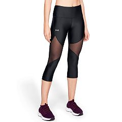Women's Under Armour HeatGear Mesh Mid-Rise Capri Leggings