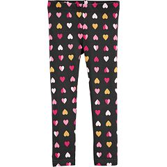 Toddler Girl Carter's Glittery Heart Leggings