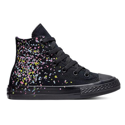 2865b9619d1 Girls  Converse Chuck Taylor All Star Birthday Confetti High Top Shoes