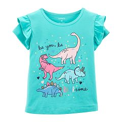 Toddler Girl Carter's 'Be You Be Rawr-Some' Dinosaur Graphic Tee