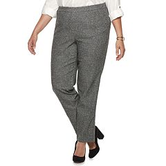 Plus Size Briggs Millennium Tweed Mid-Rise Pants