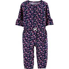 Baby Girl Carter's Floral Henley Jumpsuit