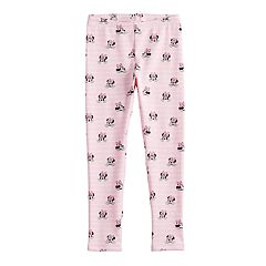 Disney's Minnie Mouse Girls 4-12 Glittery Plush-Lined Leggings by Jumping Beans®