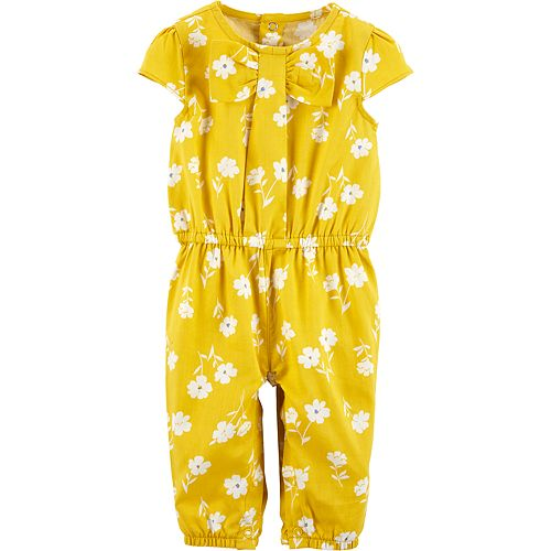 Baby Girl Carter's Floral Bow Jumpsuit