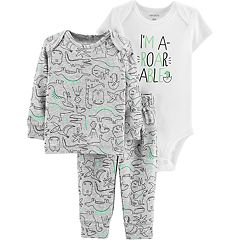 Baby Boy Carter's Graphic Bodysuit, Dino Tee & Pants Set