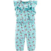 Baby Girl Carter's Floral Ruffled Jumpsuit