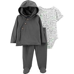 Baby Boy Carter's Dinosaur Bodysuit, Cardigan & Pants Set