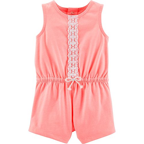 34caac940ba9 Baby Girl Carter s Lace Romper