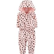 Baby Girl Carter's Hooded Cheetah Jumpsuit