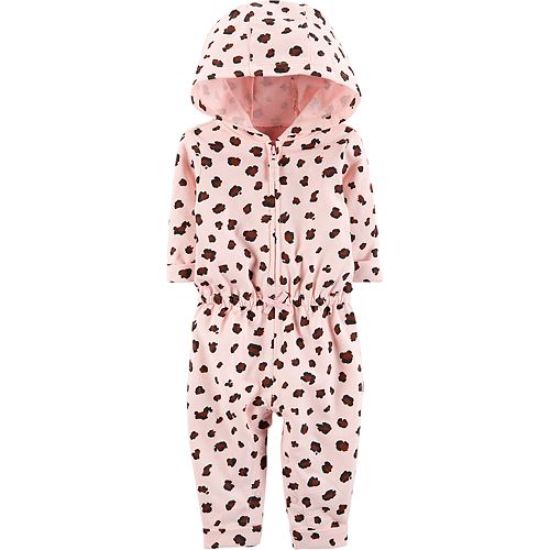 21b8374be4 Baby Girl Carter s Hooded Cheetah Jumpsuit