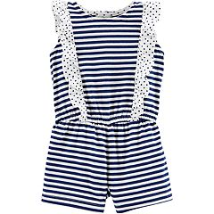 Baby Girl Carter's Striped & Ruffled Romper
