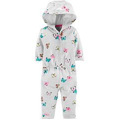 Baby Girl Carter's Butterfly Hoodie Jumpsuit