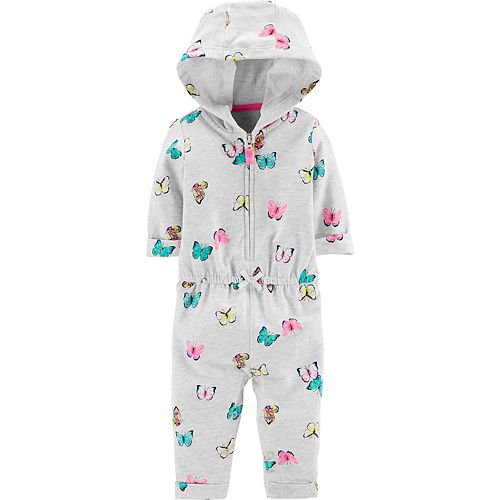 9614238d7 Baby Girl Carter's Butterfly Hoodie Jumpsuit