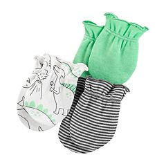 Baby Boy Carter's 3-pack Striped & Dinosaur Mitts