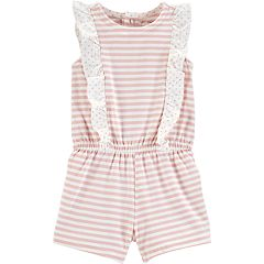 Baby Girl Carter's Striped Ruffled Sunsuit