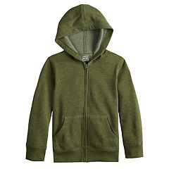 Boys 4-12 Jumping Beans® Basic Softest Fleece Zip Hoodie