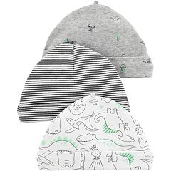 Baby Boy Carter's 3-pack Striped & Dinosaur Hats