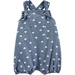 Baby Girl Carter's Heart Chambray Sunsuit