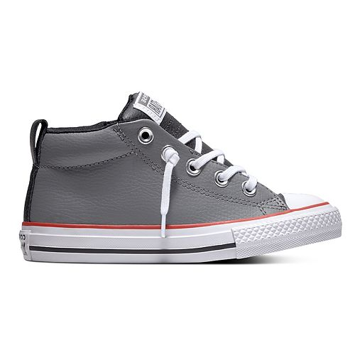 2f5511e7413 Boys' Converse Chuck Taylor All Star Street Mid Leather Sneakers