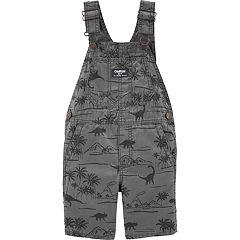 Toddler Boy OshKosh B'gosh® Dinosaur & Palm Trees Shortalls