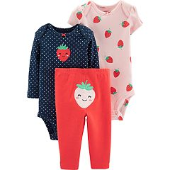Baby Girl Carter's  Strawberry Bodysuits & Pants Set