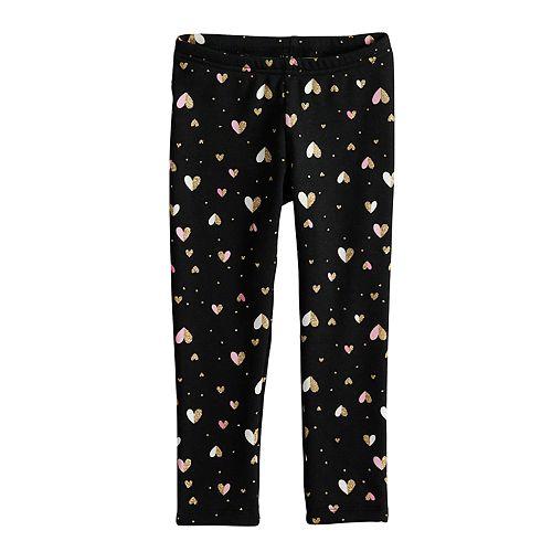 Toddler Girl Jumping Beans® Printed Fleece Lined Leggings